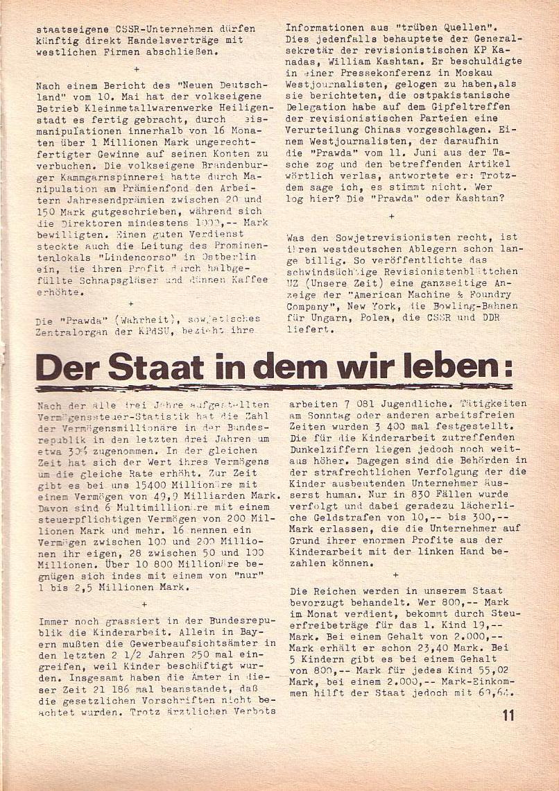 Roter Morgen, 3. Jg., Juni 1969, Seite 11