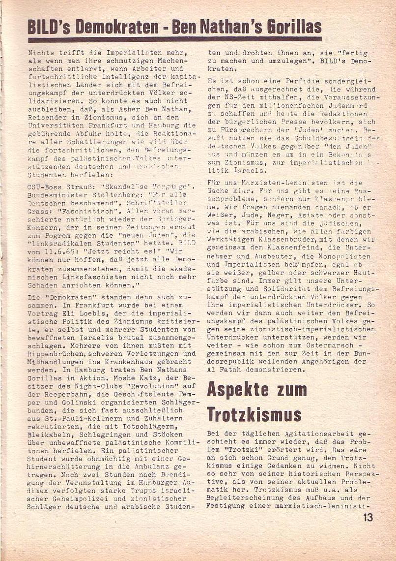 Roter Morgen, 3. Jg., Juni 1969, Seite 13