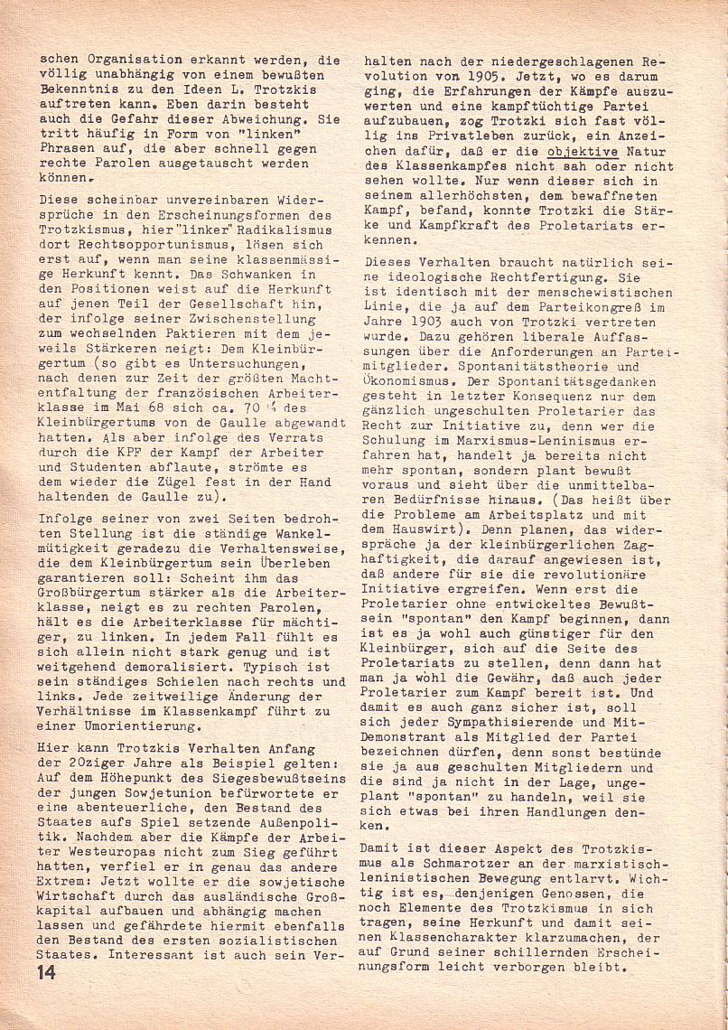 Roter Morgen, 3. Jg., Juni 1969, Seite 14