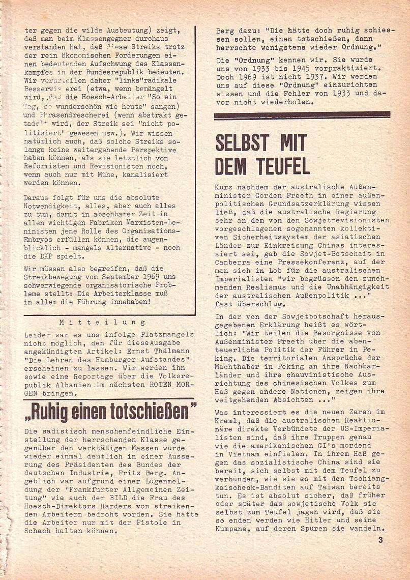 Roter Morgen, 3. Jg., Sept. 1969, Seite 3