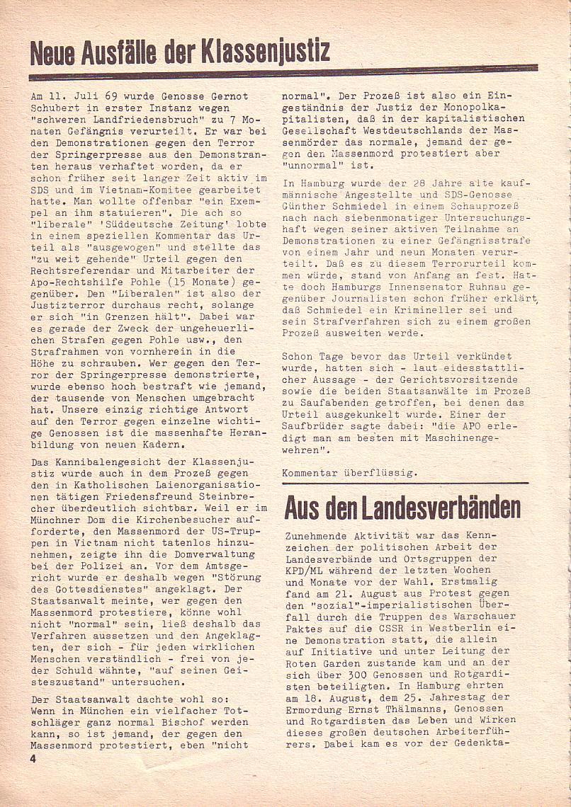 Roter Morgen, 3. Jg., Sept. 1969, Seite 4
