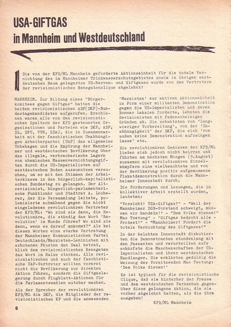 Roter Morgen, 3. Jg., Sept. 1969, Seite 6