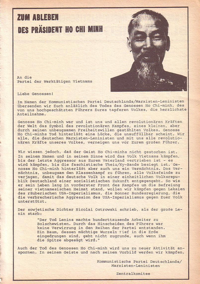 Roter Morgen, 3. Jg., Sept. 1969, Seite 7