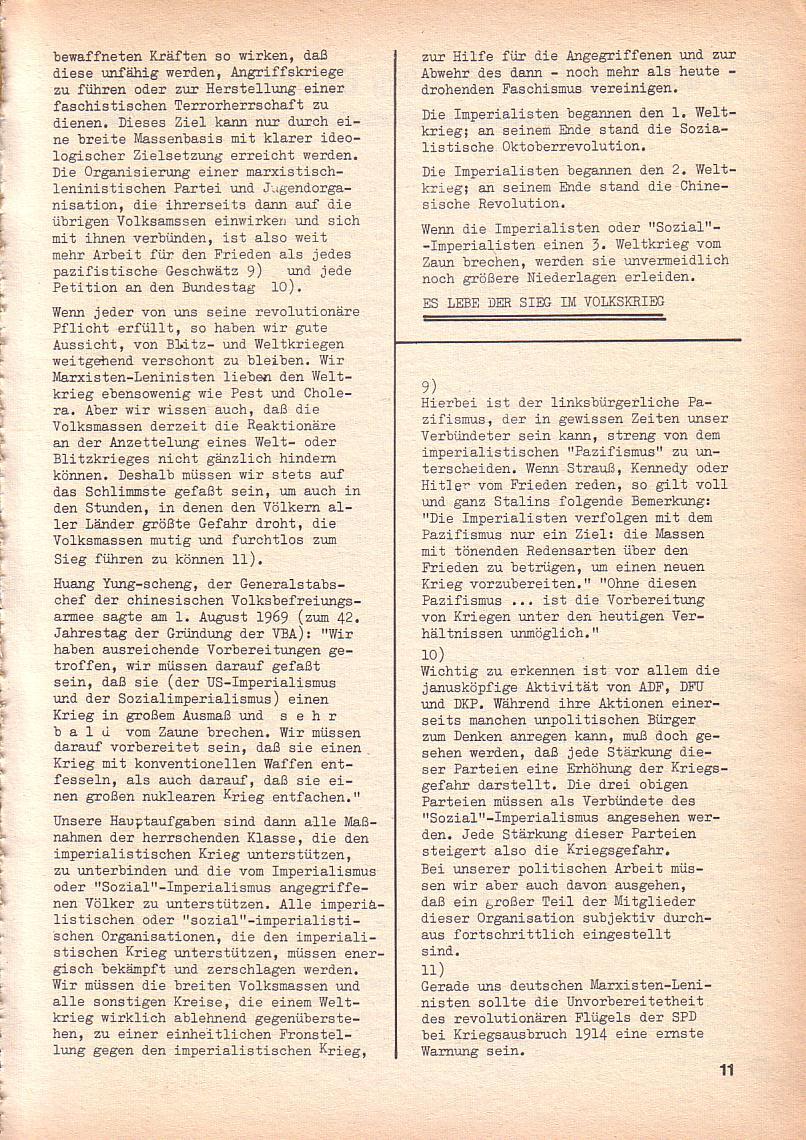 Roter Morgen, 3. Jg., Sept. 1969, Seite 11