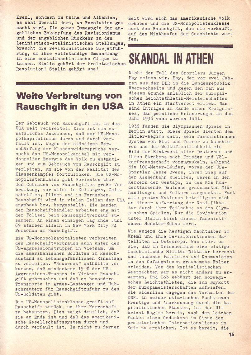 Roter Morgen, 3. Jg., Sept. 1969, Seite 15