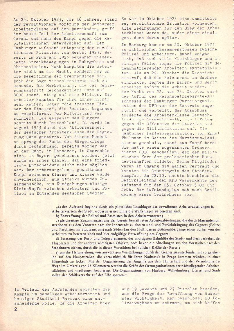 Roter Morgen, 3. Jg., Okt. 1969, Seite 2