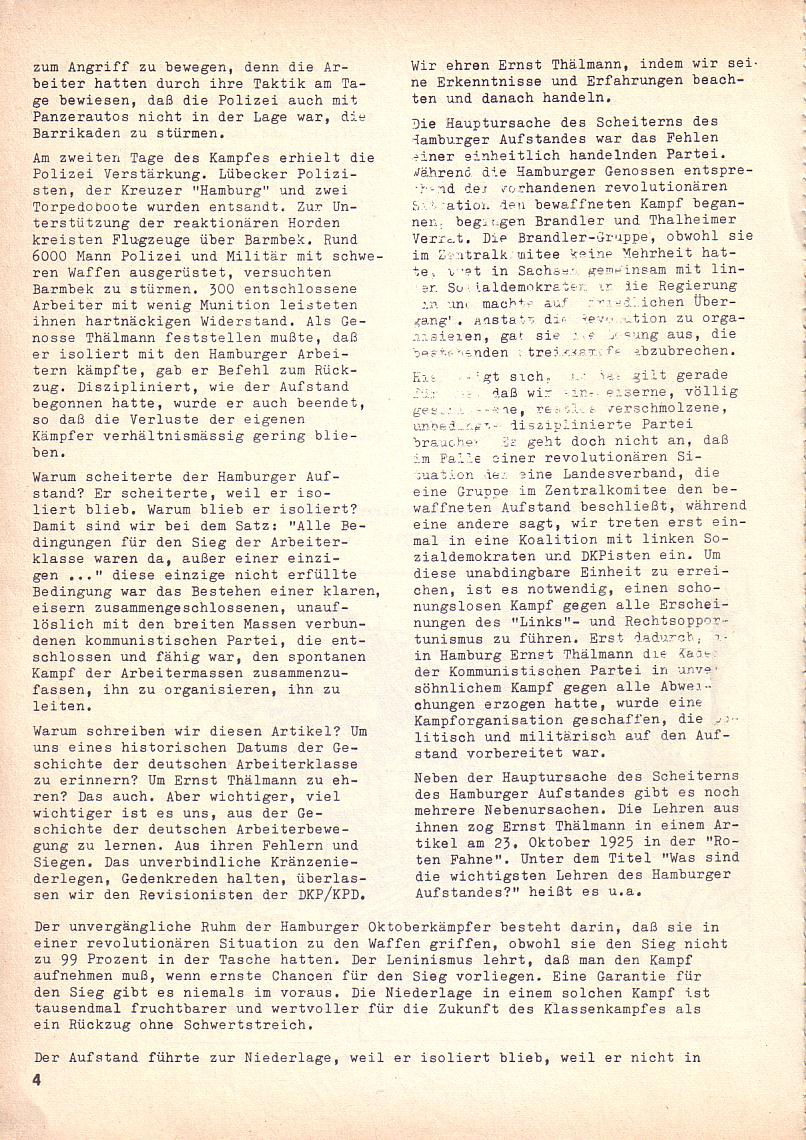 Roter Morgen, 3. Jg., Okt. 1969, Seite 4