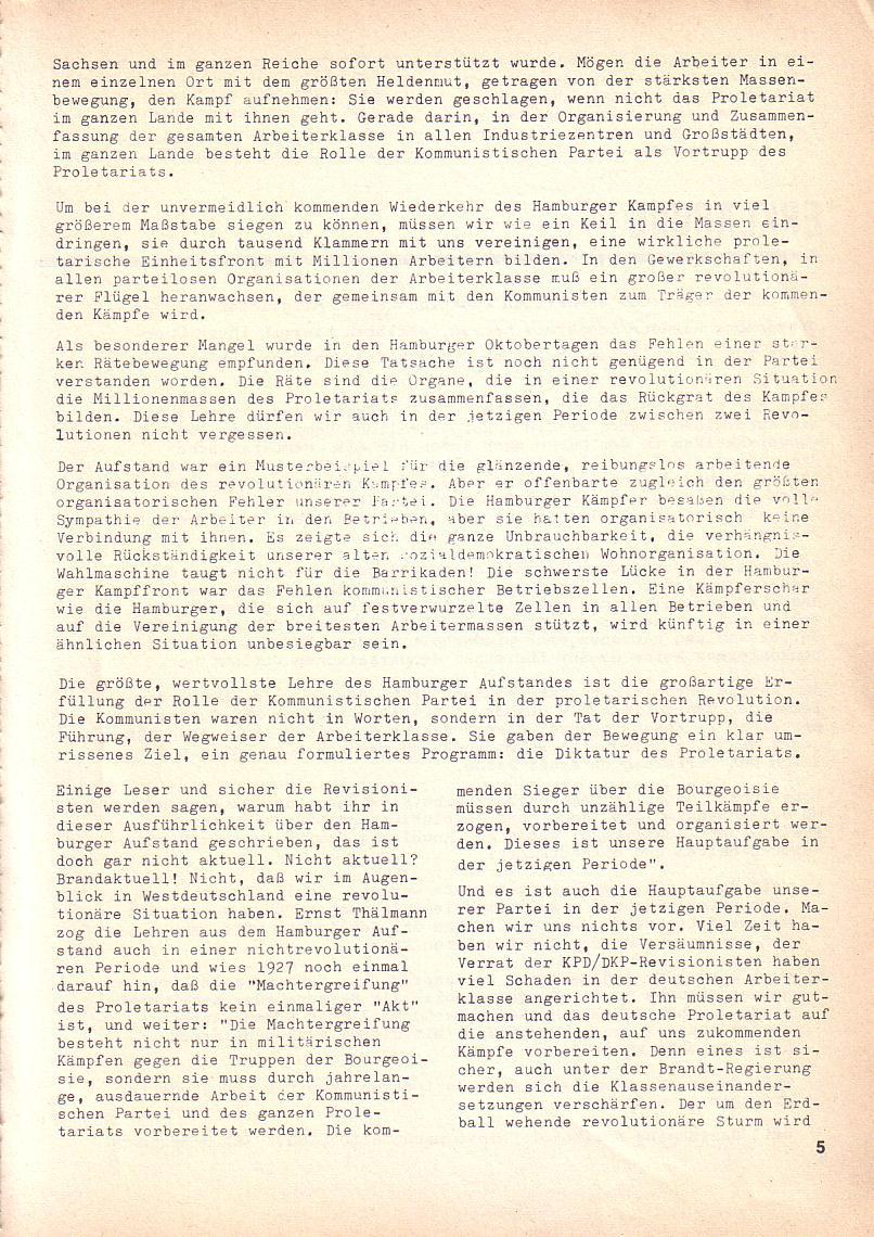 Roter Morgen, 3. Jg., Okt. 1969, Seite 5