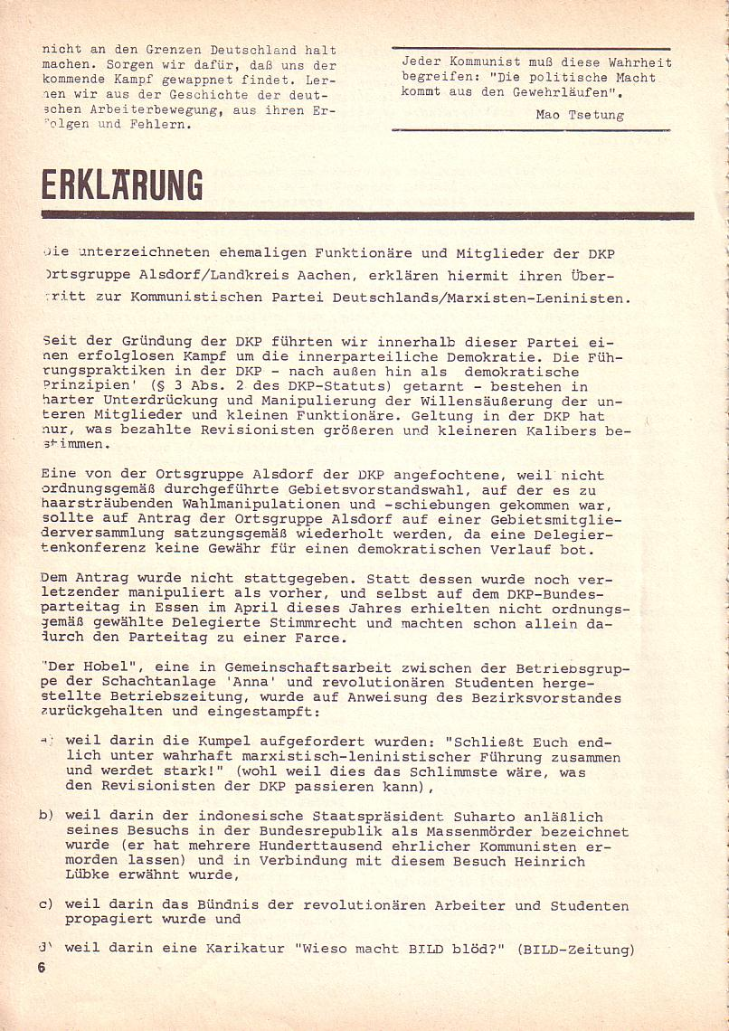Roter Morgen, 3. Jg., Okt. 1969, Seite 6