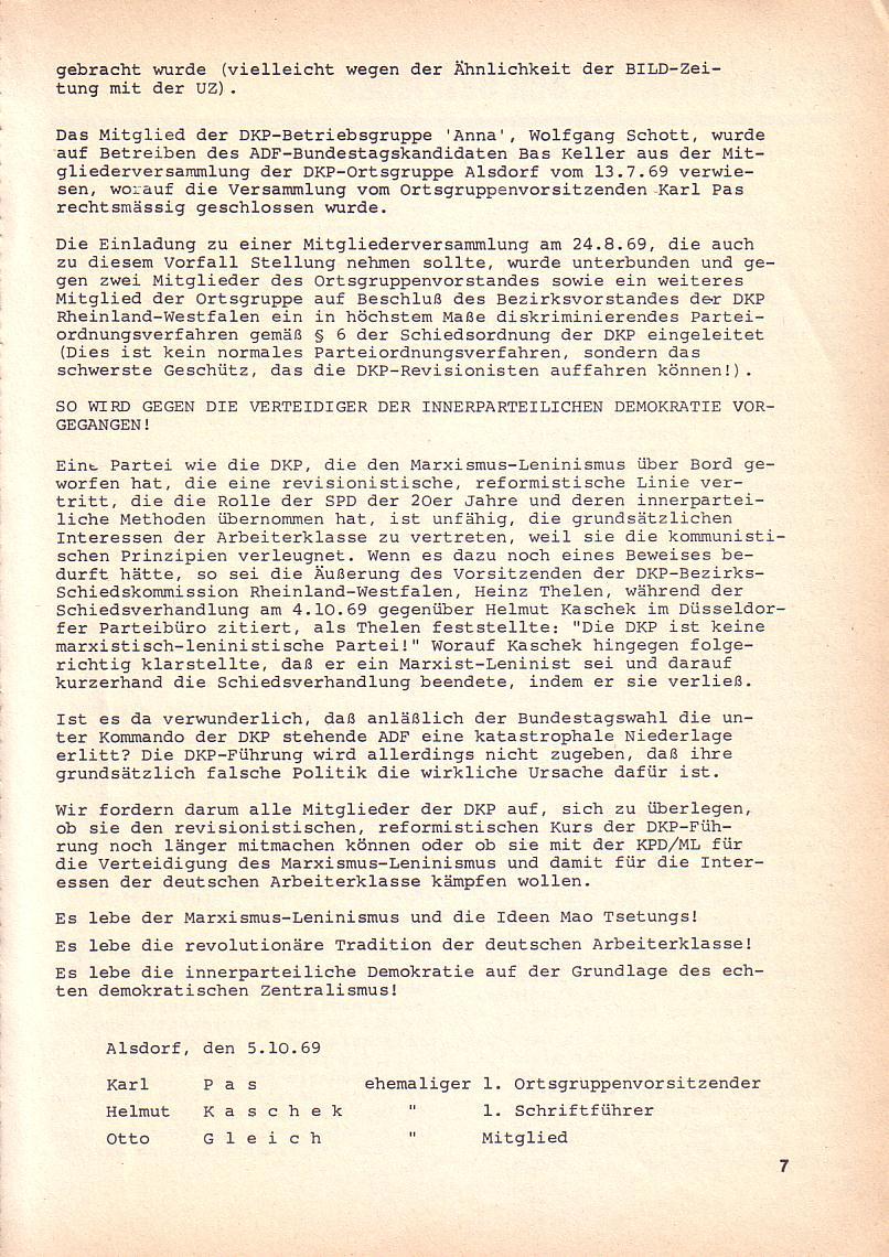 Roter Morgen, 3. Jg., Okt. 1969, Seite 7