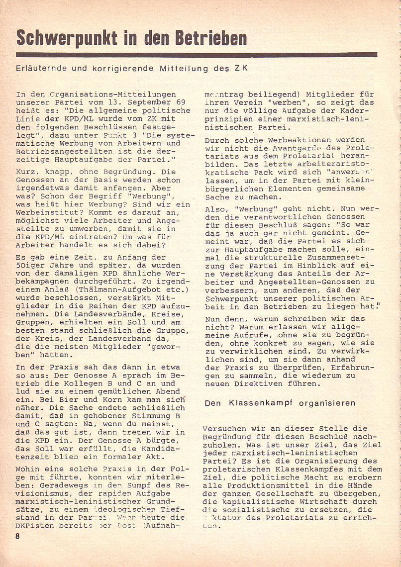Roter Morgen, 3. Jg., Okt. 1969, Seite 8