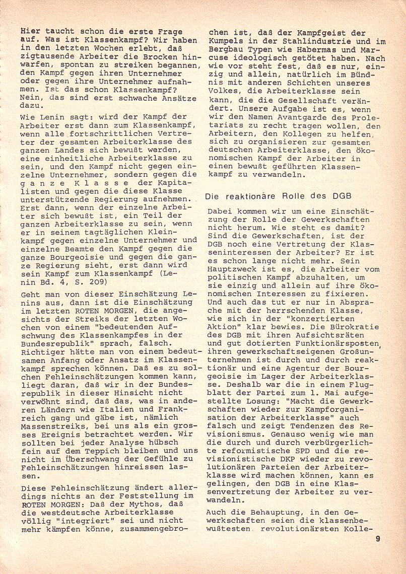 Roter Morgen, 3. Jg., Okt. 1969, Seite 9