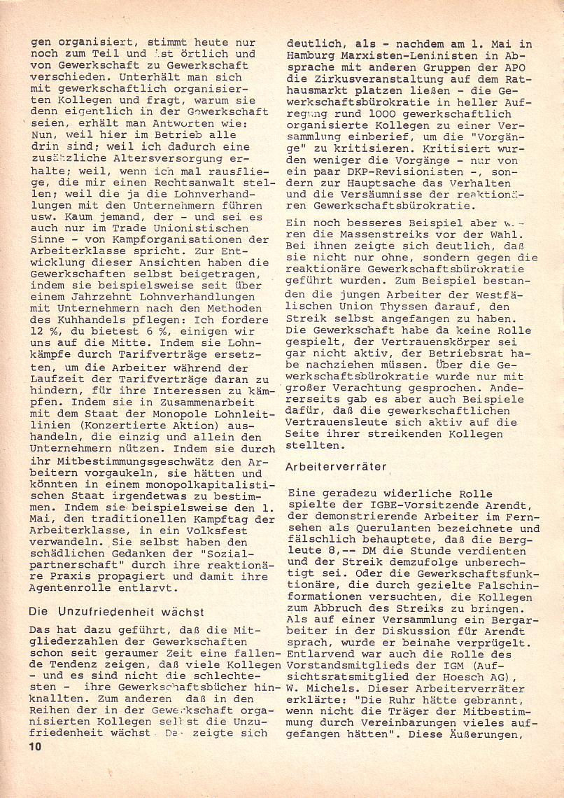 Roter Morgen, 3. Jg., Okt. 1969, Seite 10