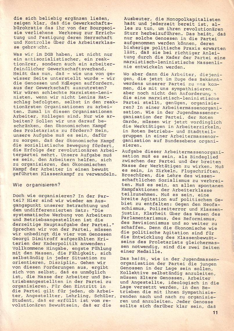 Roter Morgen, 3. Jg., Okt. 1969, Seite 11