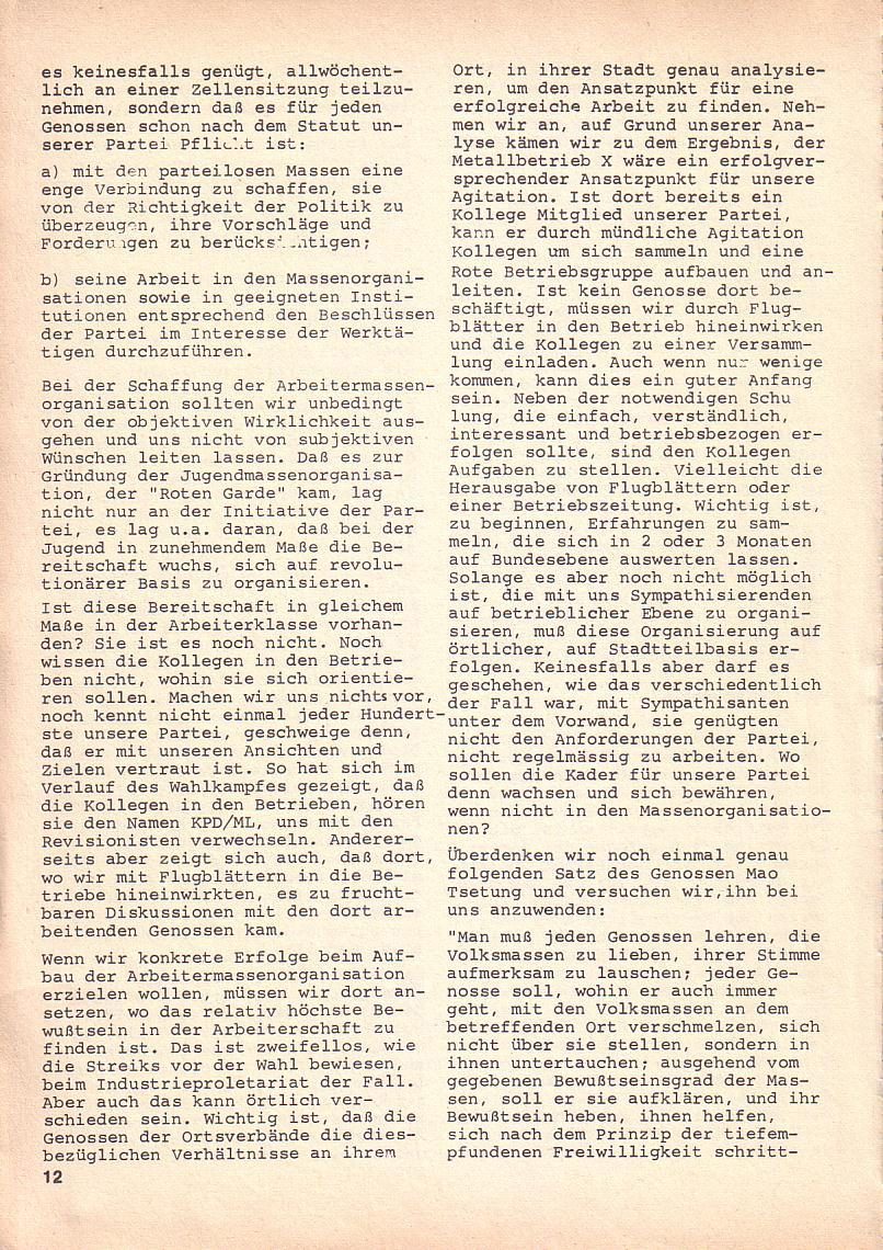 Roter Morgen, 3. Jg., Okt. 1969, Seite 12