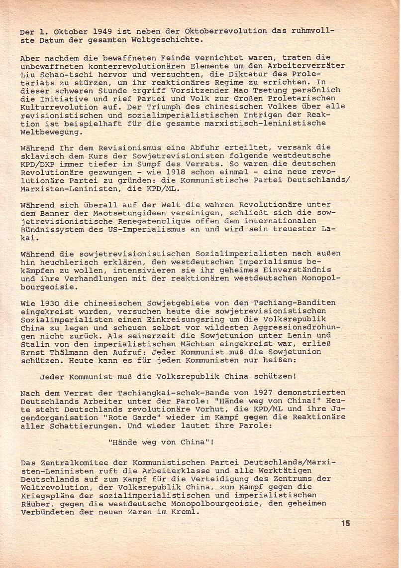 Roter Morgen, 3. Jg., Okt. 1969, Seite 15