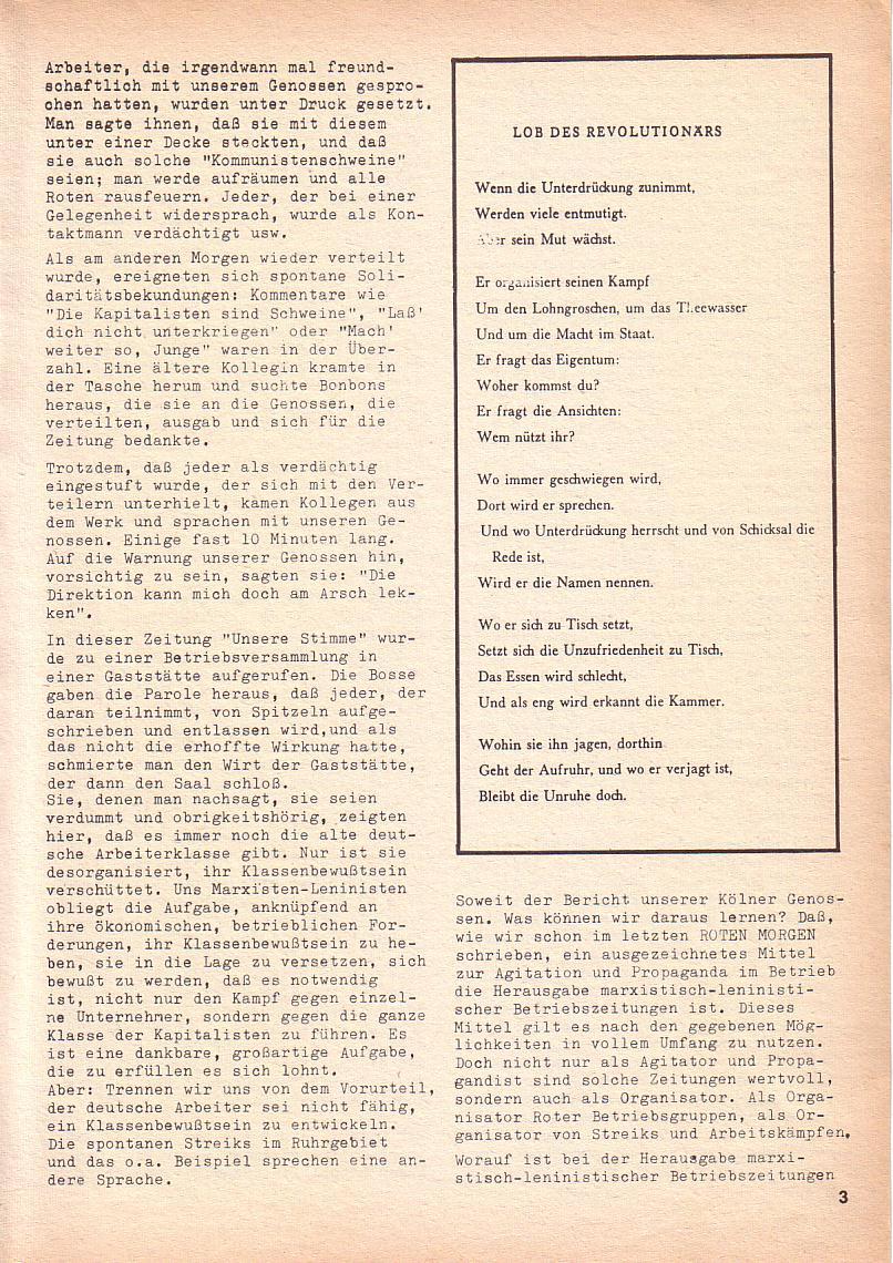 Roter Morgen, 3. Jg., Nov./1. Dez._Ausgabe 1969, Seite 3