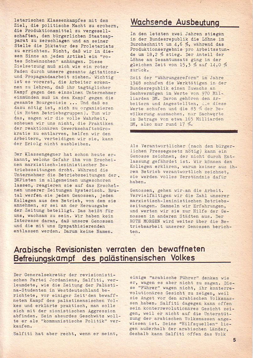 Roter Morgen, 3. Jg., Nov./1. Dez._Ausgabe 1969, Seite 5