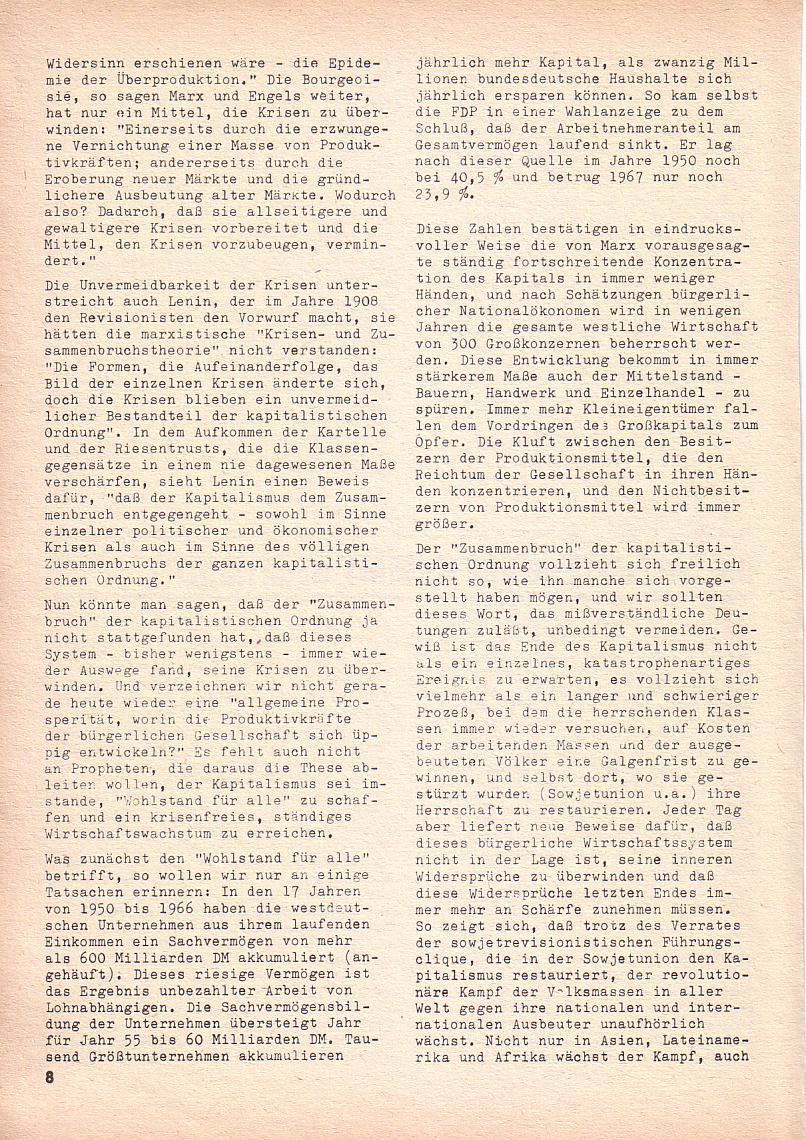 Roter Morgen, 3. Jg., Nov./1. Dez._Ausgabe 1969, Seite 8