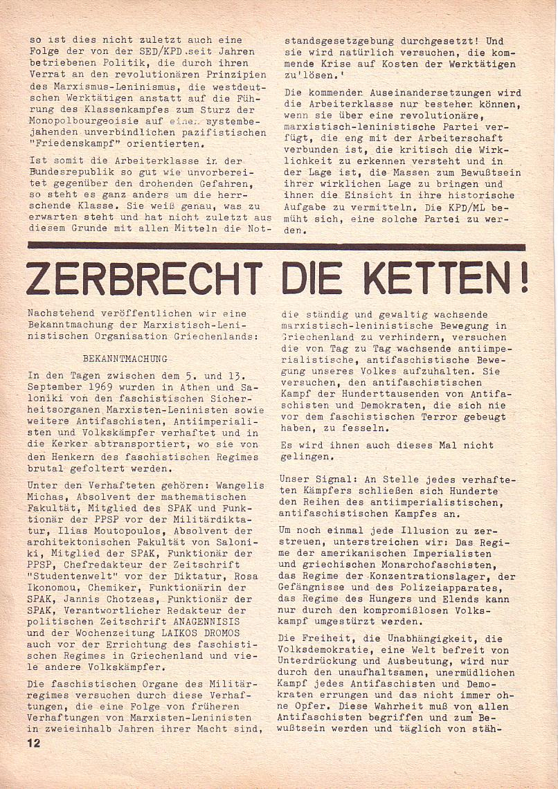 Roter Morgen, 3. Jg., Nov./1. Dez._Ausgabe 1969, Seite 12