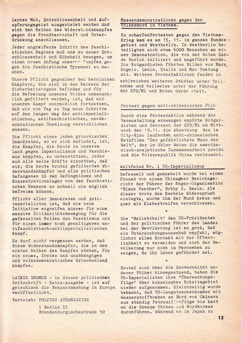 Roter Morgen, 3. Jg., Nov./1. Dez._Ausgabe 1969, Seite 13