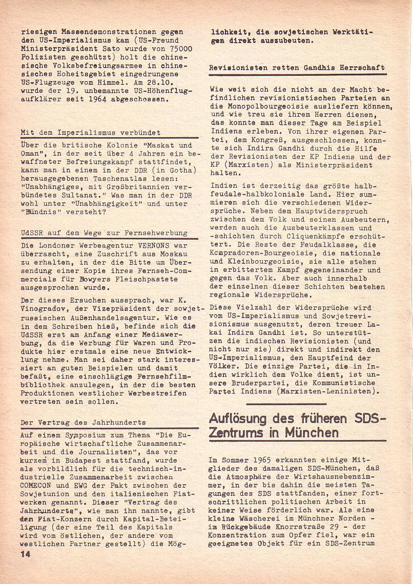 Roter Morgen, 3. Jg., Nov./1. Dez._Ausgabe 1969, Seite 14