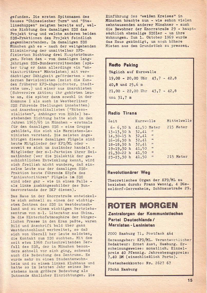 Roter Morgen, 3. Jg., Nov./1. Dez._Ausgabe 1969, Seite 15