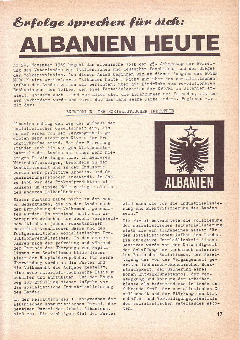 Roter Morgen, 3. Jg., Nov./1. Dez._Ausgabe 1969, Seite 17