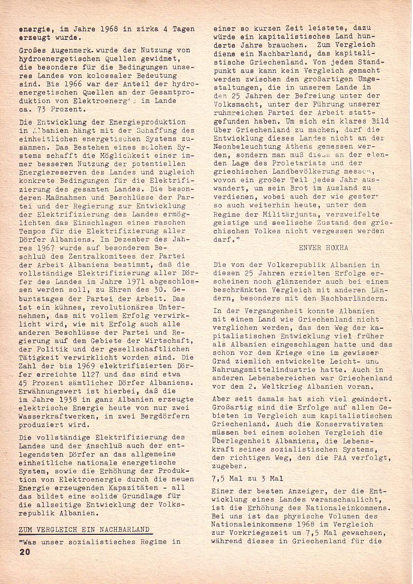 Roter Morgen, 3. Jg., Nov./1. Dez._Ausgabe 1969, Seite 20