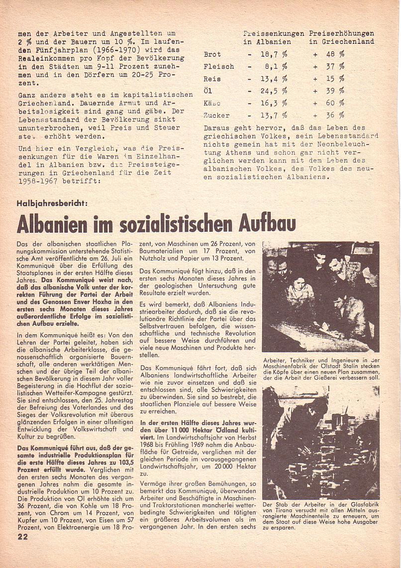 Roter Morgen, 3. Jg., Nov./1. Dez._Ausgabe 1969, Seite 22
