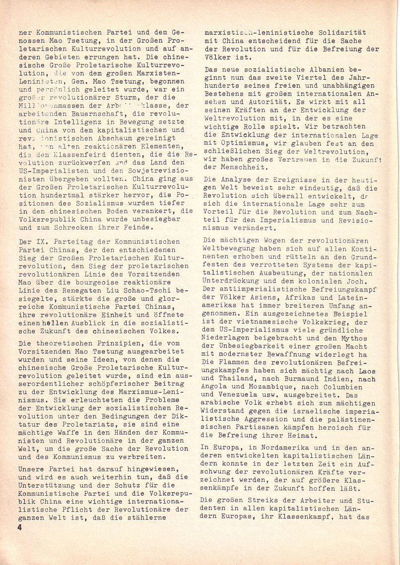 Roter Morgen, 3. Jg., 2. Dez._Ausgabe 1969, Seite 4