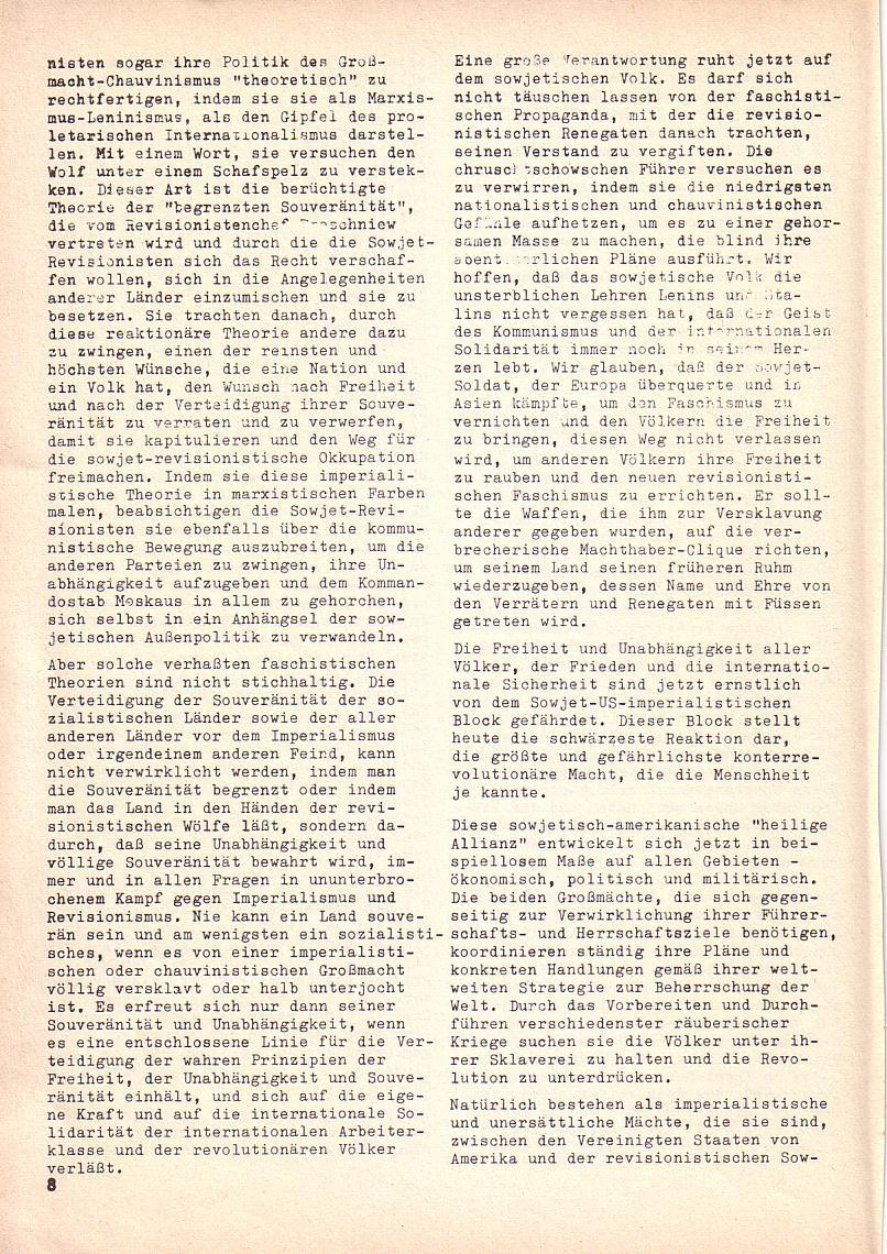 Roter Morgen, 3. Jg., 2. Dez._Ausgabe 1969, Seite 8