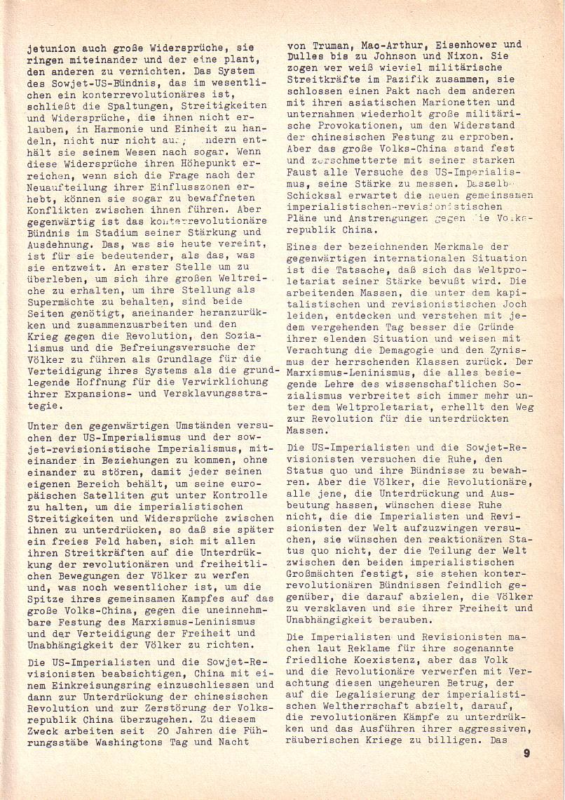 Roter Morgen, 3. Jg., 2. Dez._Ausgabe 1969, Seite 9