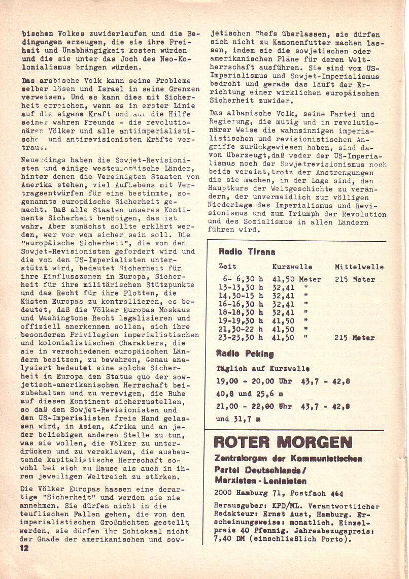 Roter Morgen, 3. Jg., 2. Dez._Ausgabe 1969, Seite 12