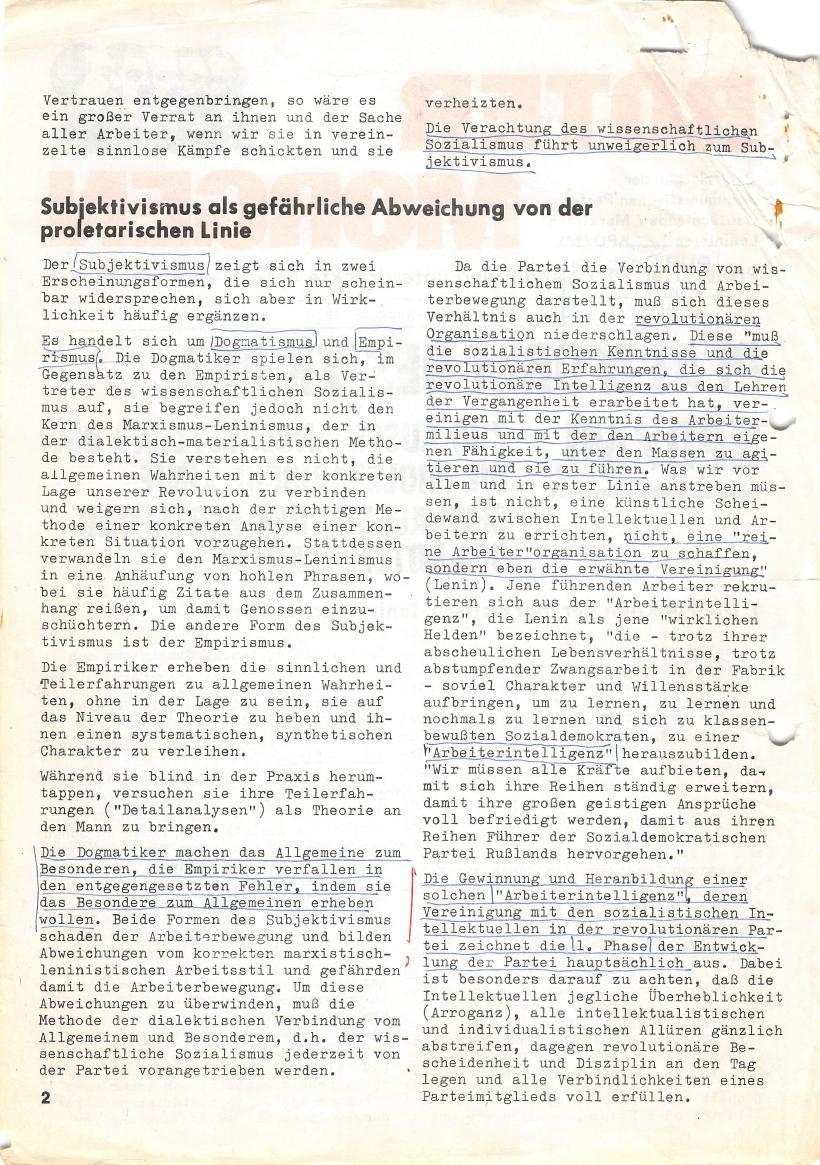 Roter Morgen, 4. Jg., März/April 1970, Seite 2