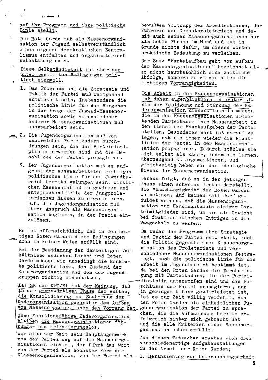 Roter Morgen, 4. Jg., März/April 1970, Seite 5