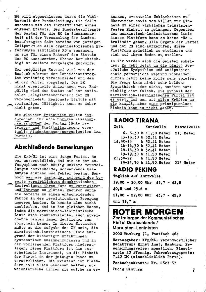 Roter Morgen, 4. Jg., März/April 1970, Seite 7