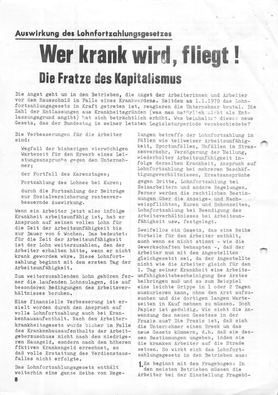 Roter Morgen, 4. Jg., März/April 1970, Seite 8
