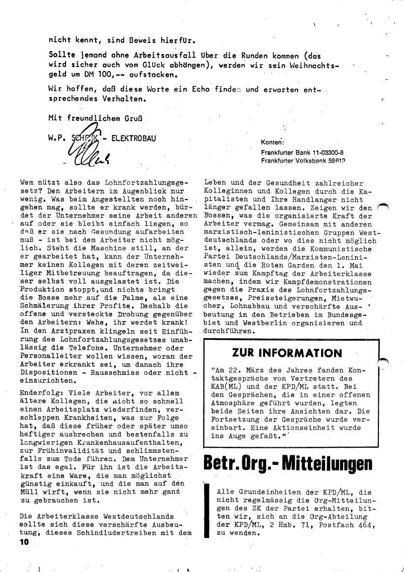 Roter Morgen, 4. Jg., März/April 1970, Seite 10