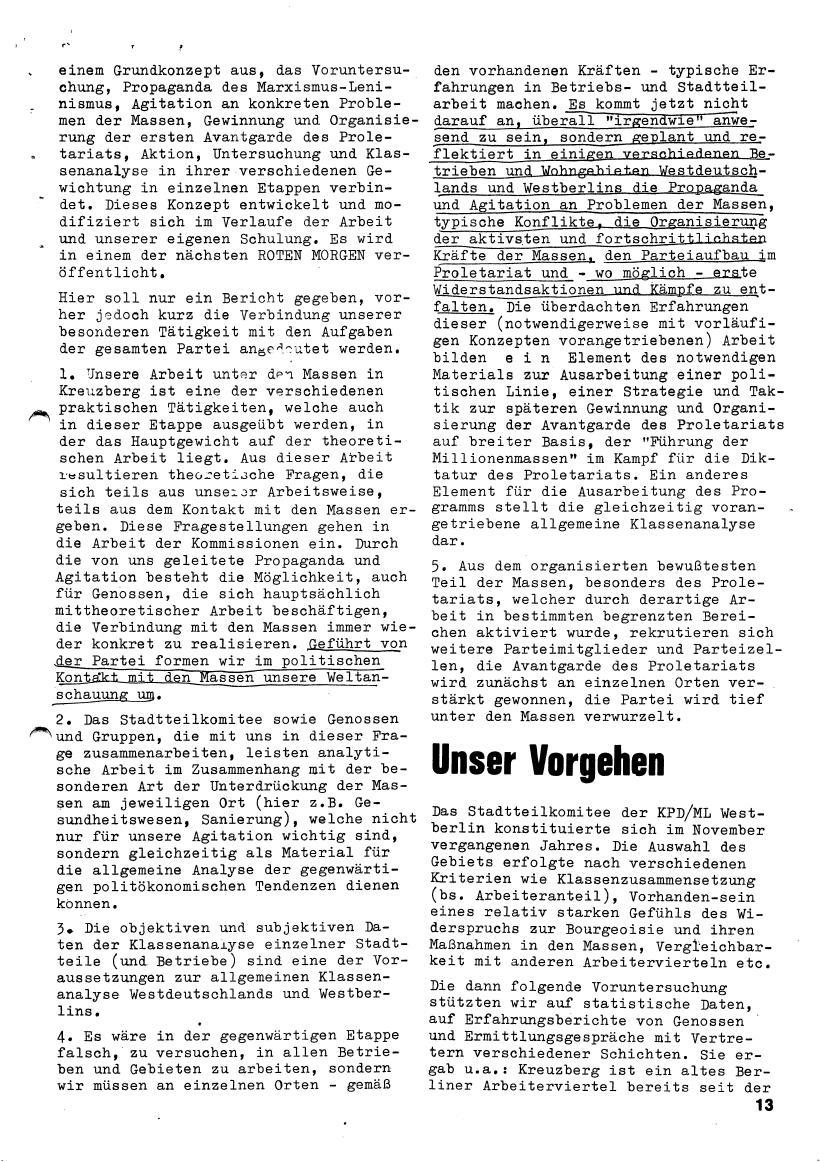 Roter Morgen, 4. Jg., März/April 1970, Seite 13