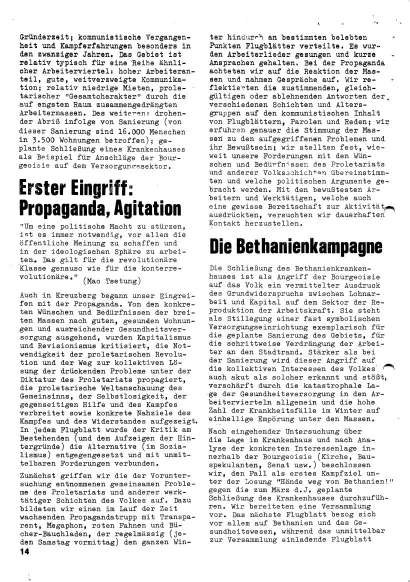 Roter Morgen, 4. Jg., März/April 1970, Seite 14