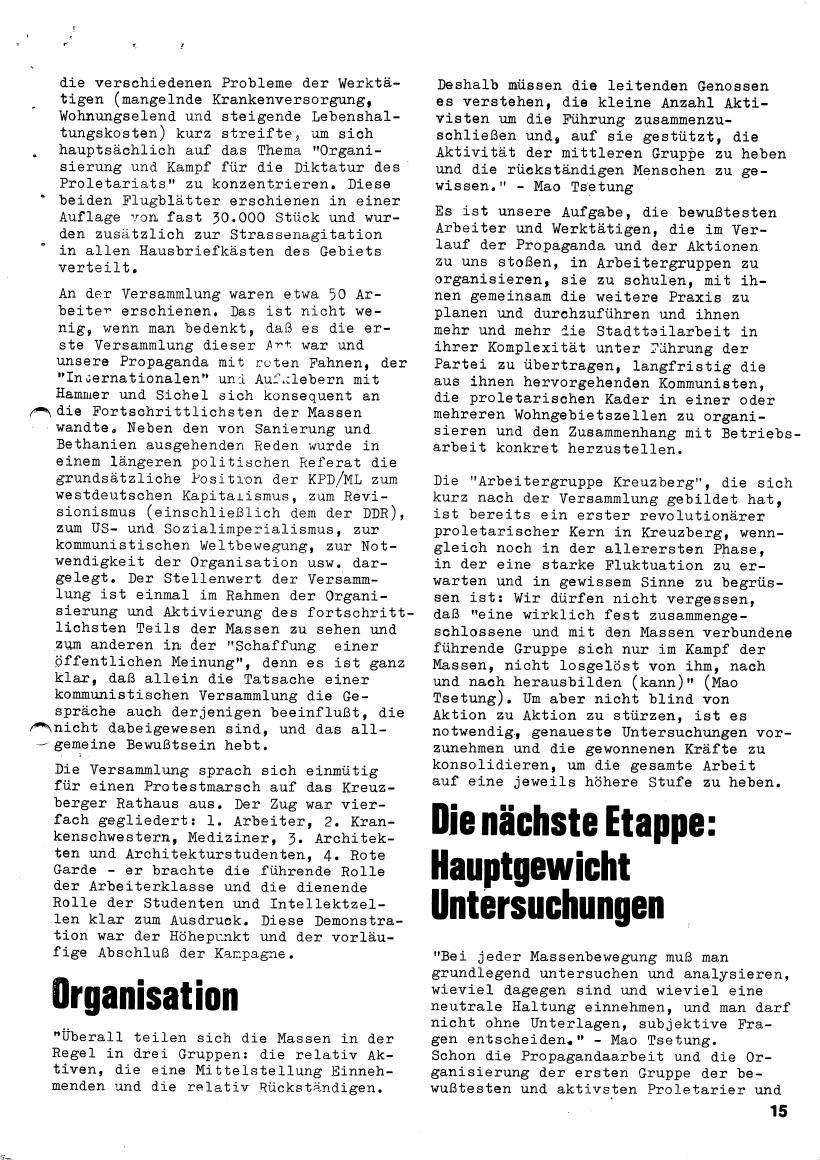 Roter Morgen, 4. Jg., März/April 1970, Seite 15