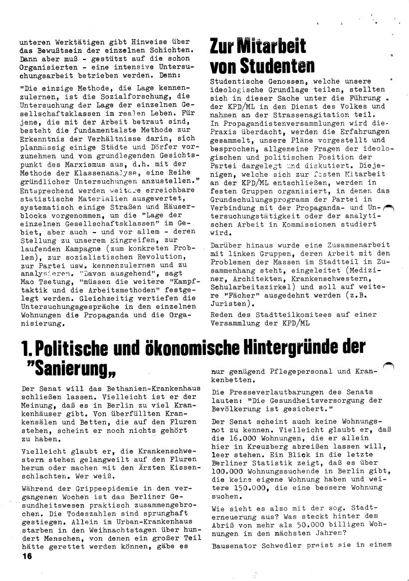 Roter Morgen, 4. Jg., März/April 1970, Seite 16