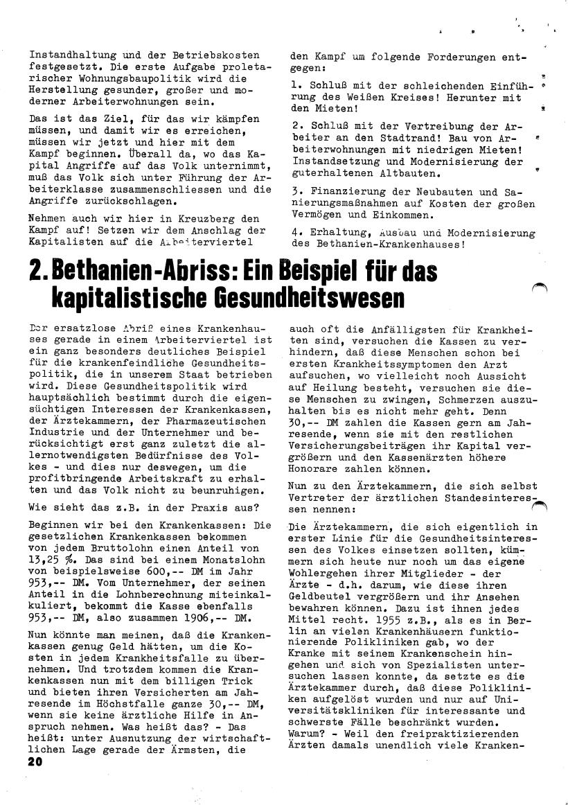 Roter Morgen, 4. Jg., März/April 1970, Seite 20