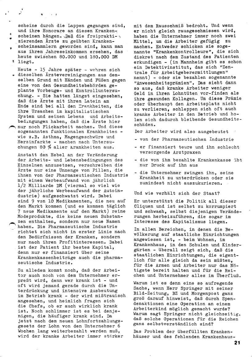 Roter Morgen, 4. Jg., März/April 1970, Seite 21