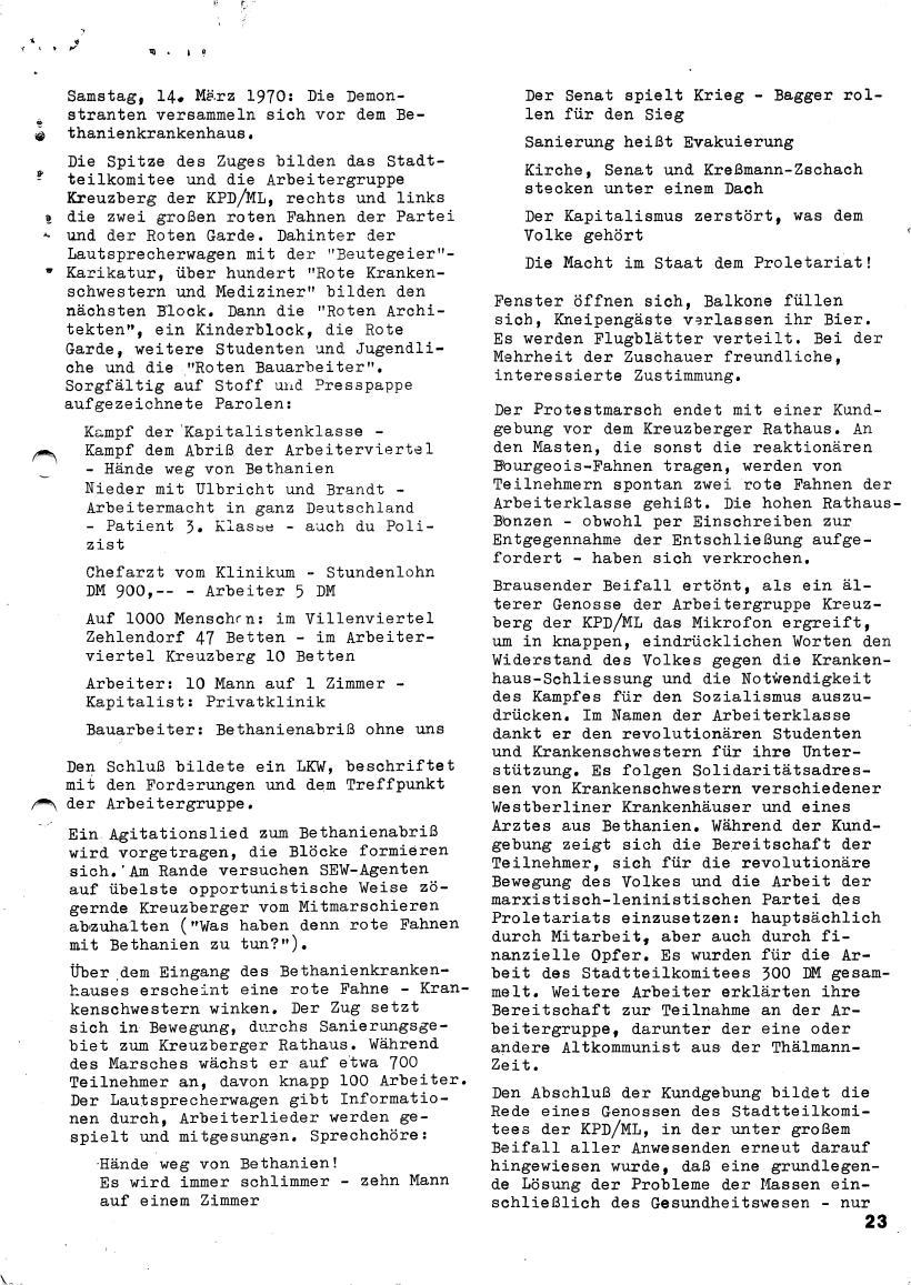 Roter Morgen, 4. Jg., März/April 1970, Seite 23