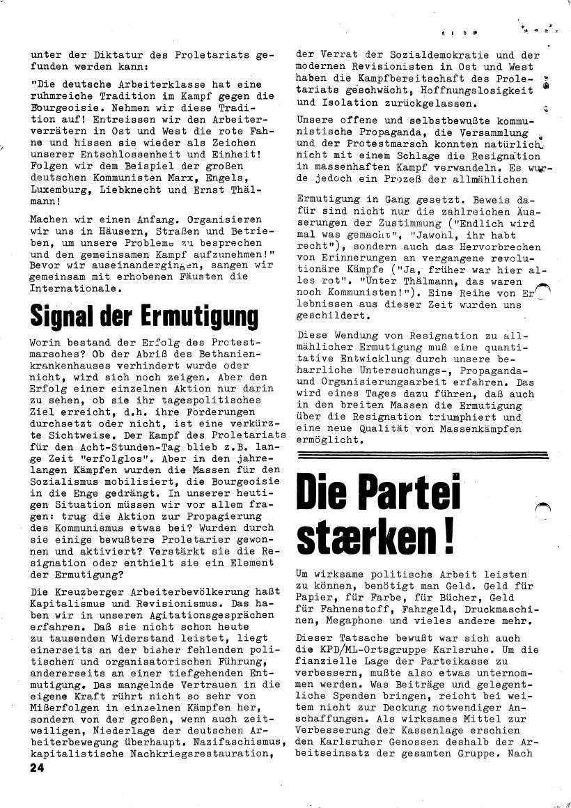 Roter Morgen, 4. Jg., März/April 1970, Seite 24