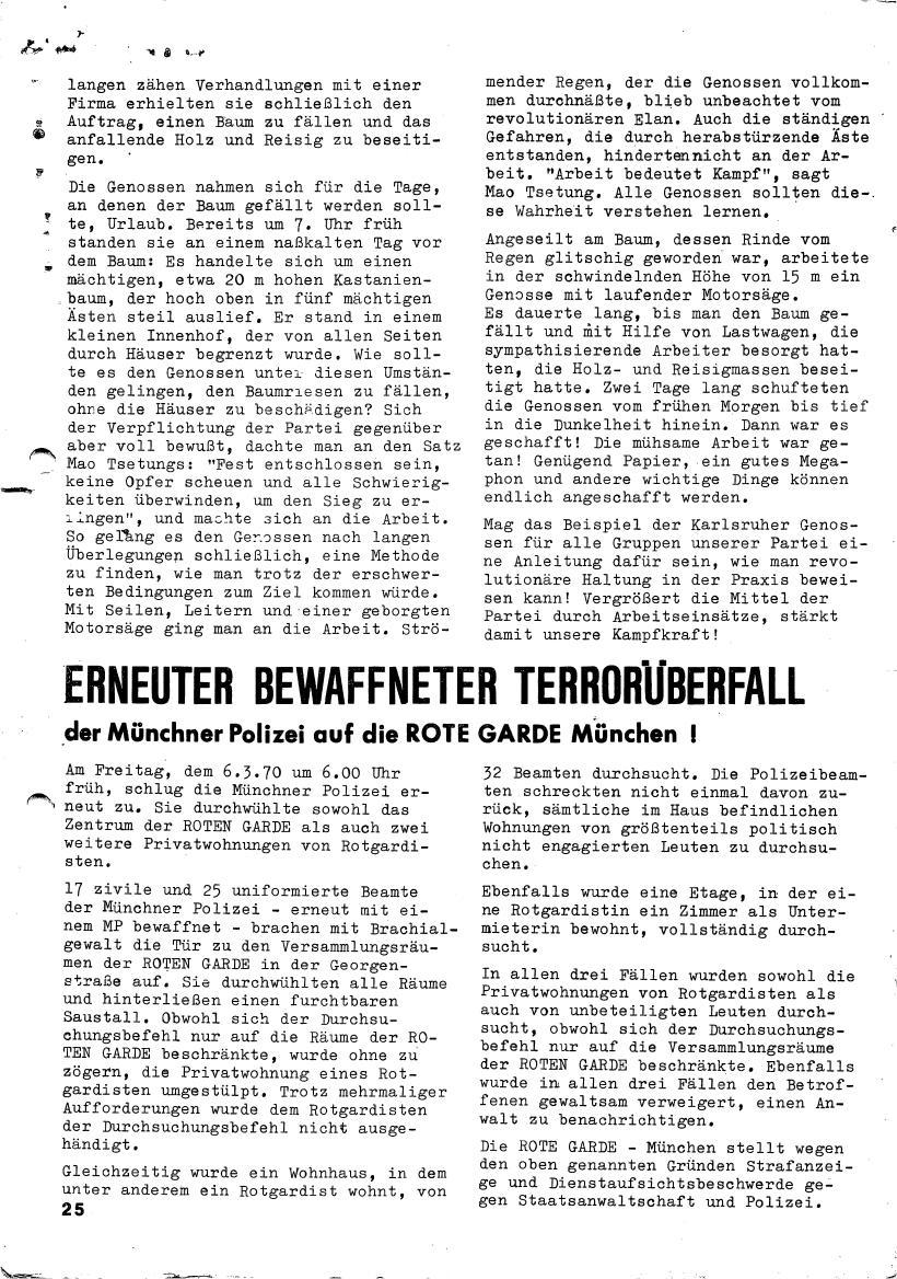 Roter Morgen, 4. Jg., März/April 1970, Seite 25