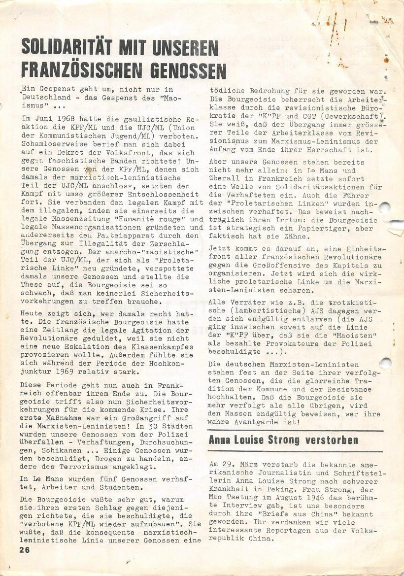 Roter Morgen, 4. Jg., März/April 1970, Seite 26