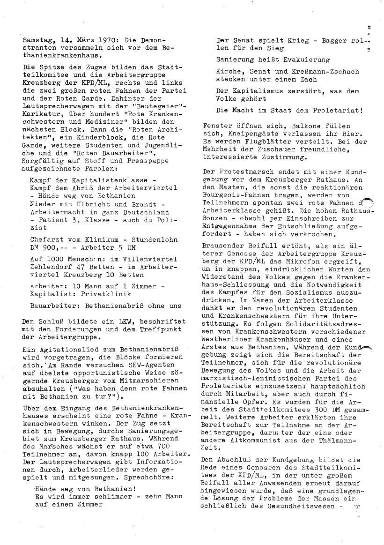 Roter Morgen, 4. Jg., Sonderdruck, März 1970, Seite 14
